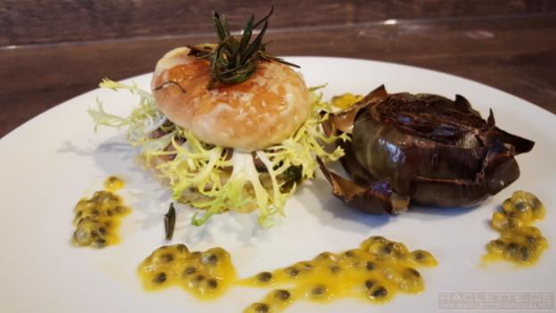 Lamm-Artischocken-Burger
