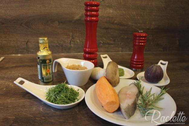Heilbutt-Kartoffel-Carpaccio-Zutaten